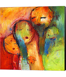 Abstract Faces 1 by Claudia Canvas Art