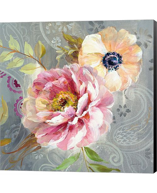 Metaverse Peonies and Paisley III by Piper Rhue Canvas Art