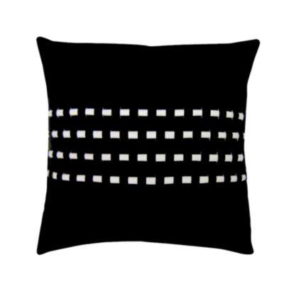 Woven Cord Outdoor Pillow Black 18X18
