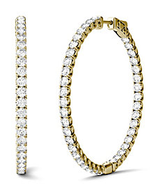 Moissanite Hoop Earrings (5/8 ct. t.w. Diamond Equivalent) in 14k Yellow Gold