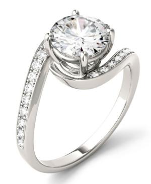 Moissanite Round Swirl Engagement Ring (1-3/4 ct. t.w. Diamond Equivalent) in 14k White Gold