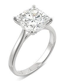 Moissanite Cushion Solitaire Ring (3-1/3 ct. tw.) in 14k White Gold