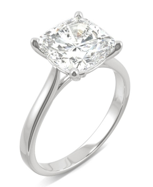 Moissanite Cushion Solitaire Ring (3-1/3 ct. tw.) in 14k White