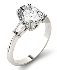 Moissanite Oval Engagement Ring (2-1/2 ct. tw. Diamond Equivalent) in 14k White Gold