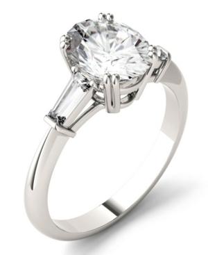 Moissanite Oval Engagement Ring (2-1/2 ct. tw. Diamond Equivalent) in 14k White Gold
