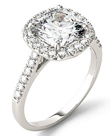Moissanite Cushion Halo Ring (2-7/8 ct. tw.) in 14k White Gold