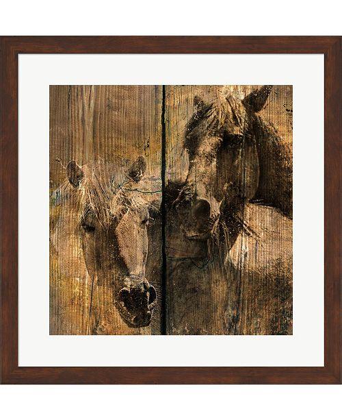Metaverse Horses Charcoal by Surma & Guillen Framed Art