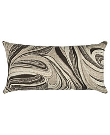 "Rizzy Home Brown 14"" X 26"" Abstract Design Poly Filled Pillow"