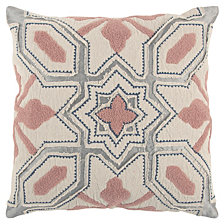 "Rizzy Home Pink 20"" X 20"" Deconstructed Geometric Poly Filled Pillow"