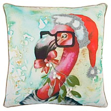 "Mariah Parris 20"" x 20"" Flamingo Poly Filled Pillow"