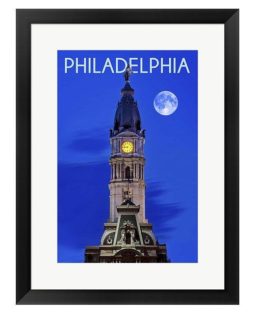 Metaverse Philadelphis PA by Lantern Press Framed Art
