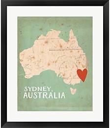 Sydney Australia by Katie Doucette Framed Art