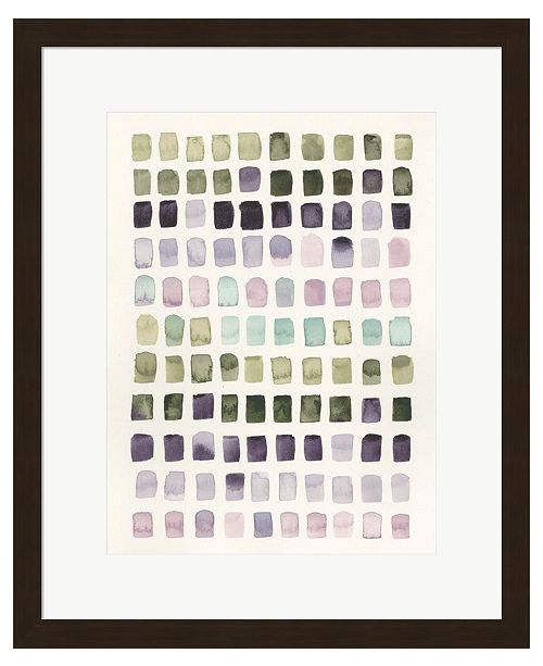 Metaverse Serene Color Swatche by Grace Popp Framed Art