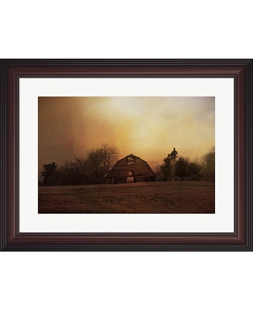 Metaverse The Old Barn On A Fa by Jai Johnson Framed Art