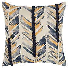 "Rizzy Home 20"" X 20"" Chevron Poly Filled Pillow"