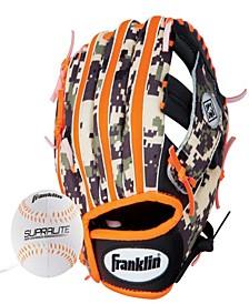 "9.5"" Rtp Teeball Performance Glove And Ball Combo Black/Orange-Left Handed Thrower"