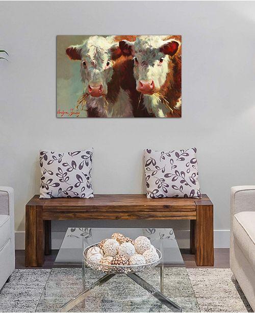 "iCanvas ""Cow Belles"" by Carolyne Hawley Gallery-Wrapped Canvas Print"