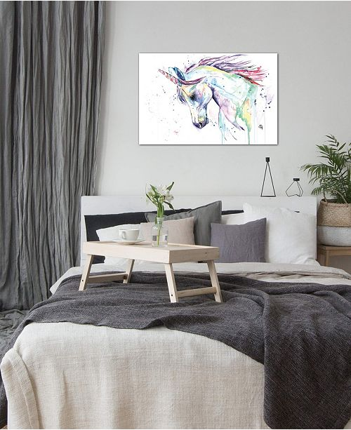 """iCanvas """"Kenzie's Unicorn"""" by Lisa Whitehouse Gallery-Wrapped Canvas Print"""