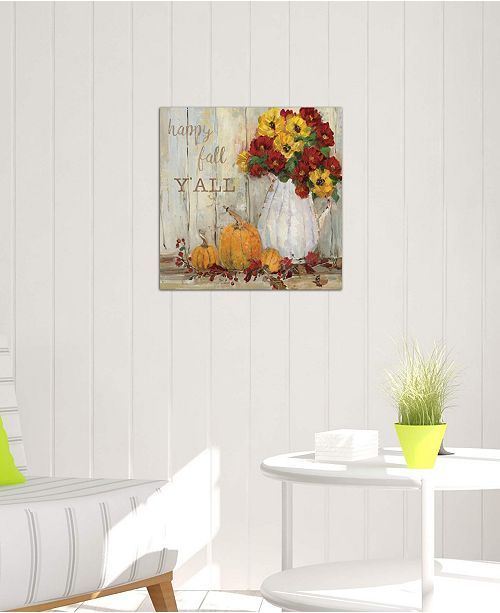 """iCanvas """"Pumpkin Patch II"""" by Sally Swatland Gallery-Wrapped Canvas Print (26 x 26 x 0.75)"""