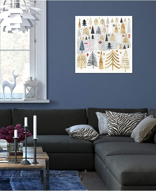 """iCanvas """"Christmas Chalet III"""" by Victoria Borges Gallery-Wrapped Canvas Print (26 x 26 x 0.75)"""