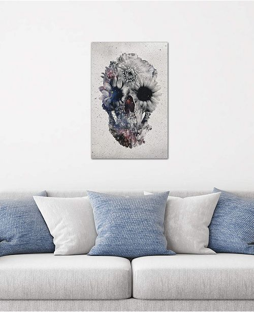 "iCanvas ""Floral Skull #2"" by Ali Gulec Gallery-Wrapped Canvas Print (26 x 18 x 0.75)"