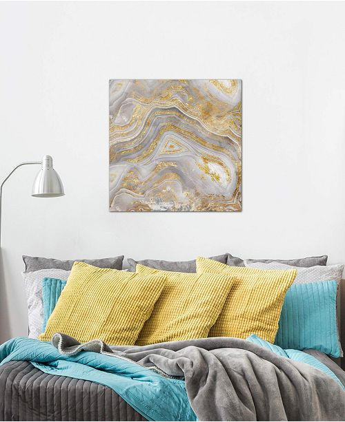 """iCanvas """"Agate Allure II"""" by Nan Gallery-Wrapped Canvas Print (18 x 18 x 0.75)"""