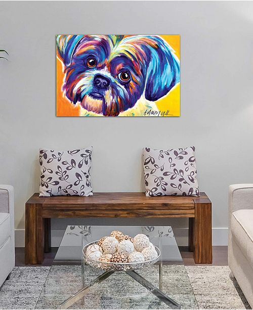 "iCanvas ""Lacey The Shih Tzu"" by DawgArt Gallery-Wrapped Canvas Print (26 x 40 x 0.75)"