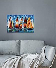 """iCanvas """"Sail Regatta"""" by Leonid Afremov Gallery-Wrapped Canvas Print (18 x 26 x 0.75)"""