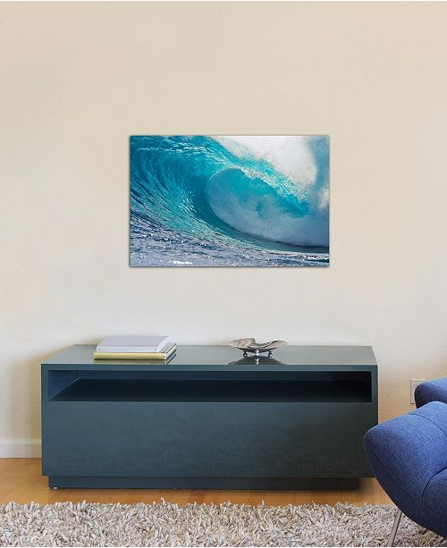 """iCanvas """"Plunging Waves II, Sout Pacific Ocean, Tahiti, French Polynesia"""" by Panoramic Images Gallery-Wrapped Canvas Print (26 x 40 x 0.75)"""