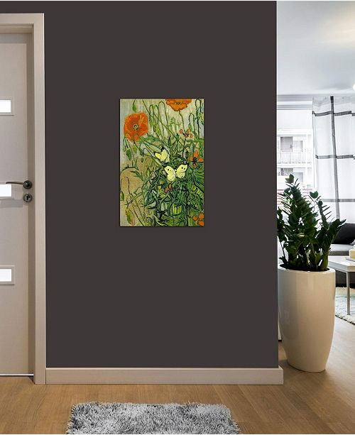 "iCanvas ""Butterflies and Poppies"" by Vincent van Gogh Gallery-Wrapped Canvas Print (26 x 18 x 0.75)"