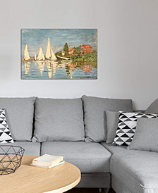 """iCanvas """"Regatta at Argenteuil, c.1872 """" by Claude Monet Gallery-Wrapped Canvas Print (18 x 26 x 0.75)"""
