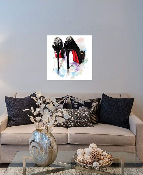 """iCanvas """"Christian Louboutin Classic Heels"""" by Rongrong DeVoe Gallery-Wrapped Canvas Print (26 x 26 x 0.75)"""