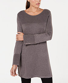 Alfani Ribbed Tunic Sweater, Created for Macy's