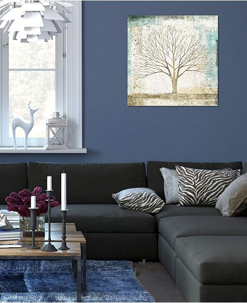 """iCanvas """"Solitary Tree Collage"""" by All That Glitters Gallery-Wrapped Canvas Print (26 x 26 x 0.75)"""