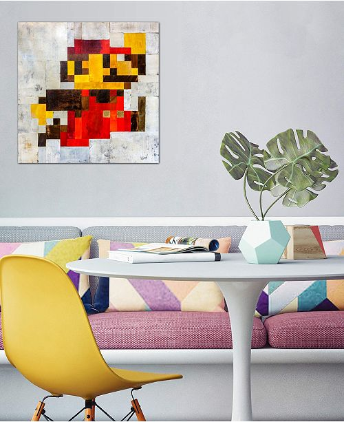 """iCanvas """"Post Modern Mario"""" by Francis Ward Gallery-Wrapped Canvas Print (18 x 18 x 0.75)"""