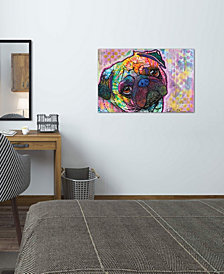 "iCanvas ""Pug Love"" by Dean Russo Gallery-Wrapped Canvas Print (18 x 26 x 0.75)"
