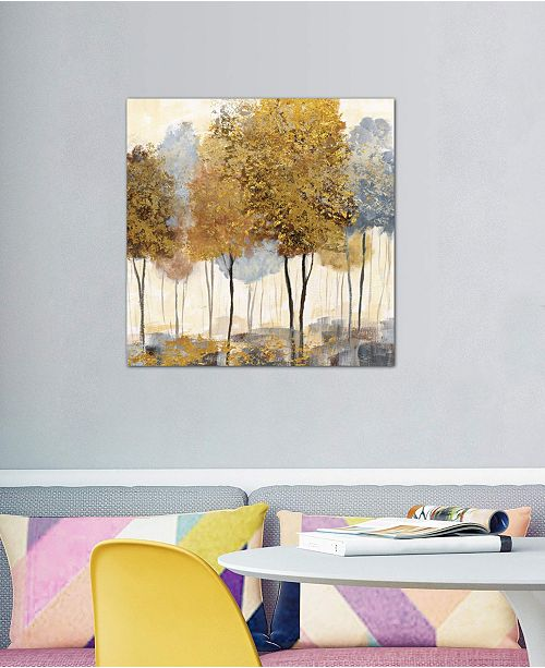 """iCanvas """"Metallic Forest II"""" by Nan Gallery-Wrapped Canvas Print (26 x 26 x 0.75)"""