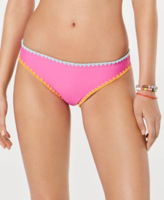 Juniors' Whip-Stitch Hipster Bikini Bottoms, Created for Macy's