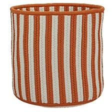 Baja Stripe Braided Storage Basket