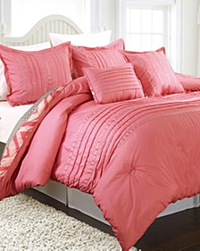 Maddy 5 PC Reversable Comforter Set, Full/Queen