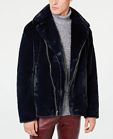 I.N.C. Men's Syd Faux Fur Coat, Created for Macy's