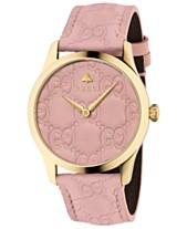 9bf8df87f Gucci Women's Swiss G-Timeless Pink Leather Strap Watch 38mm