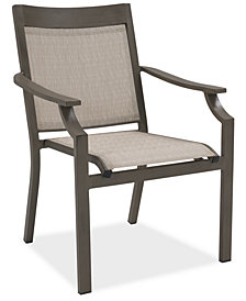 CLOSEOUT! Rialto Outdoor Aluminum Sling Dining Chair, Created For Macy's