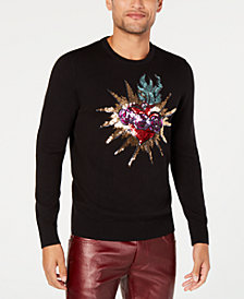 I.N.C. Men's Rave Sequined Sweater, Created for Macy's