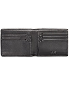 Hugo Boss Men's Subway Herringbone Leather Wallet