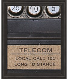 Old Vintage Pay Phone I by Unknown Framed Art