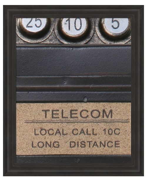 Metaverse Old Vintage Pay Phone I by Unknown Framed Art