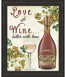 Love and Wine by Jean Plout Framed Art