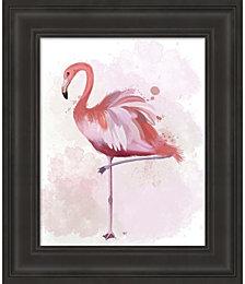 Fluffy Flamingo 4 by Fab Funky Framed Art