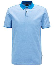 BOSS Men's Slim-Fit Mercerized Cotton Polo